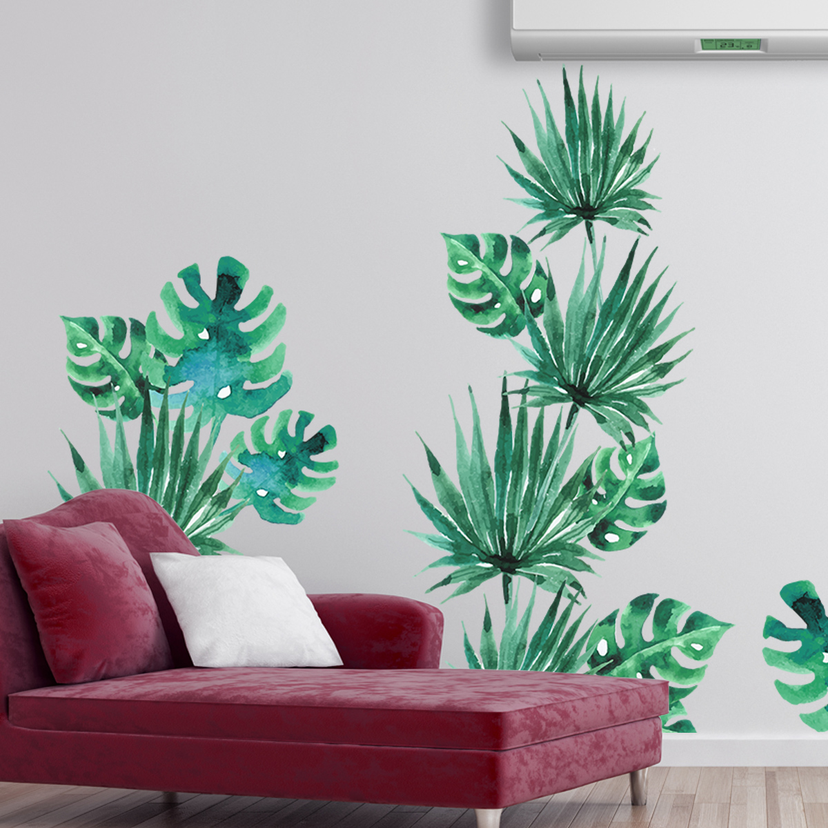 Sticker feuilles tropicales  Stickers Nature Feuilles
