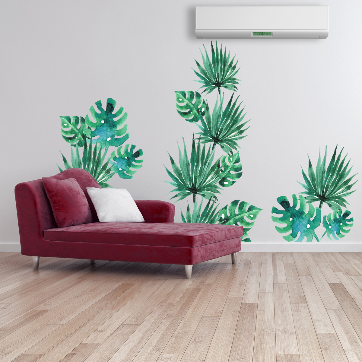 Sticker feuilles tropicales  Stickers STICKERS NATURE Feuilles  Ambiancesticker