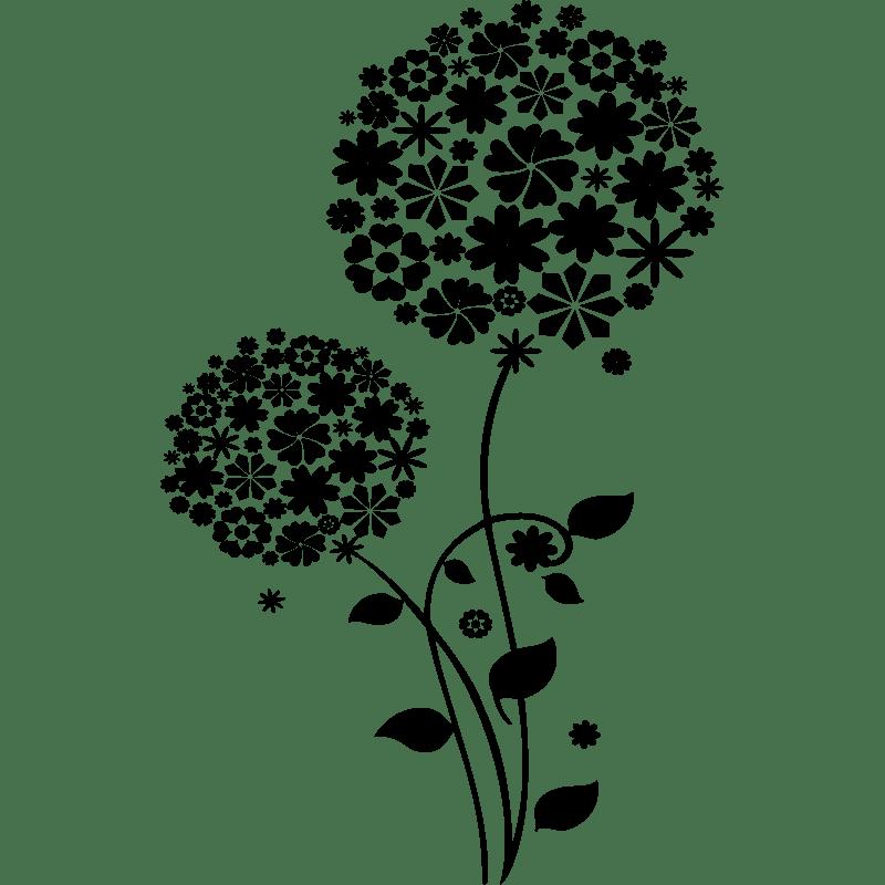 Sticker Fleurs à belles pétales