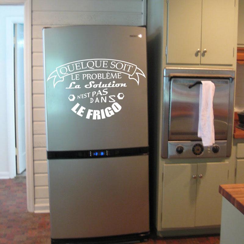 Sticker frigo La solution nest pas dans le frigo  stickers Cuisine  ambiancesticker