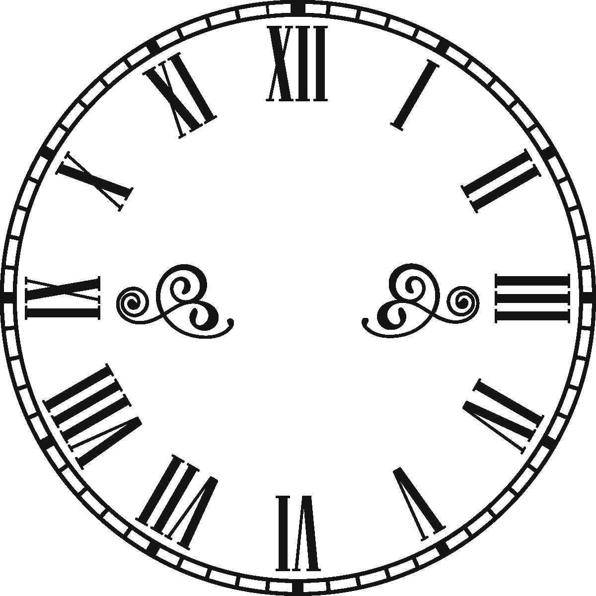 Gambar Jam Romawi