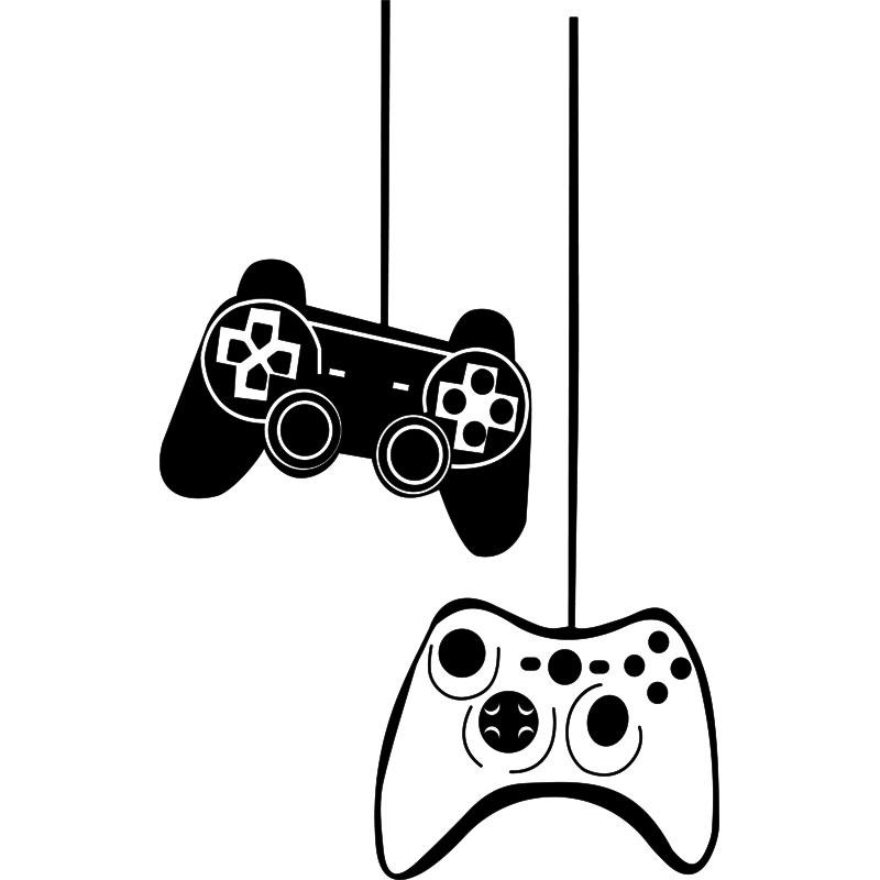 Sticker jeux vidéo Manettes de jeu