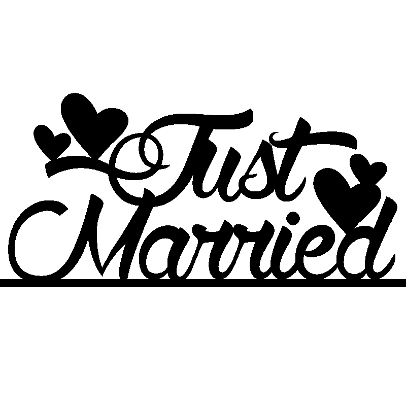 Sticker Just Married 1 Stickers Citations Anglais