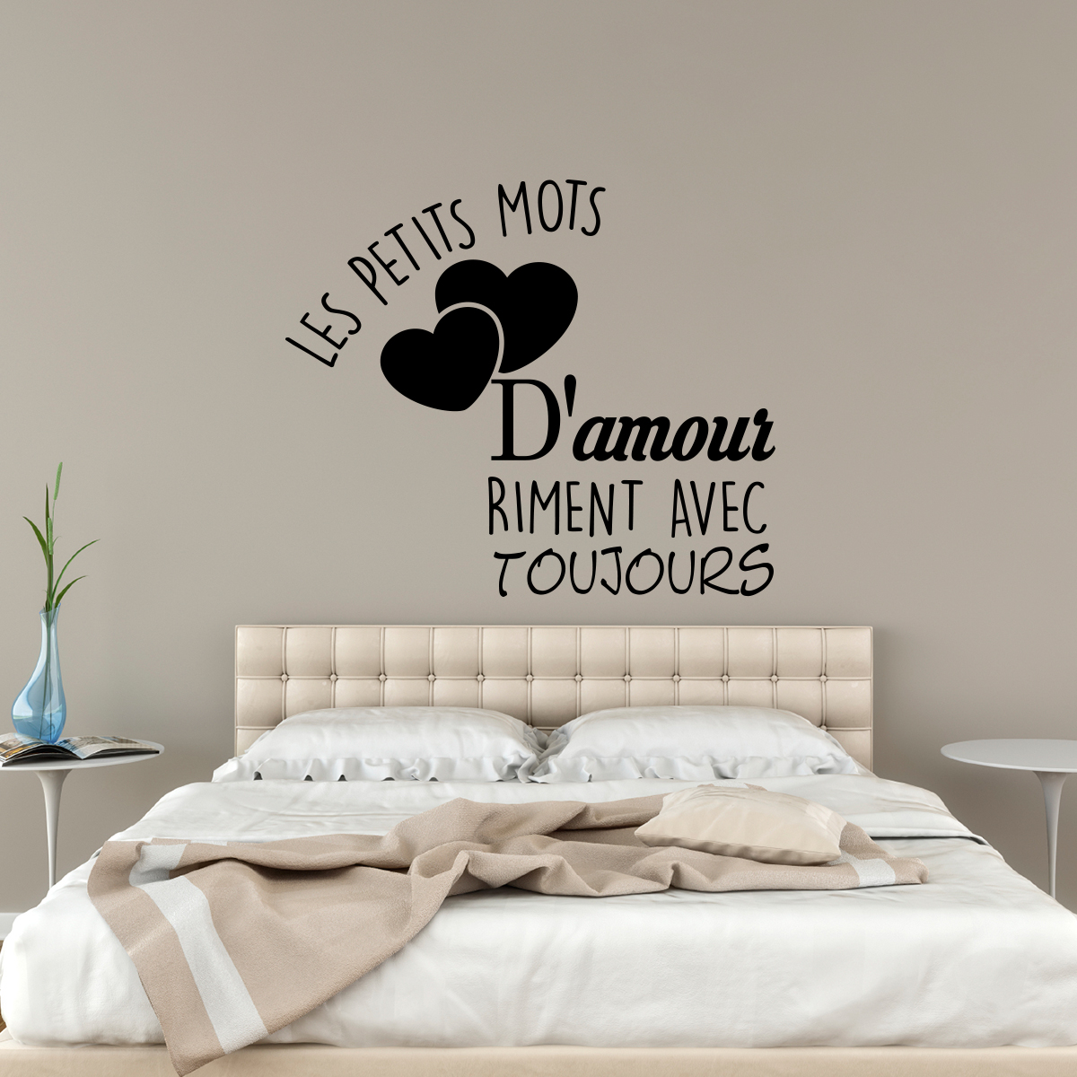 Sticker Les petits mots damour  Stickers STICKERS CITATIONS Franais  Ambiancesticker