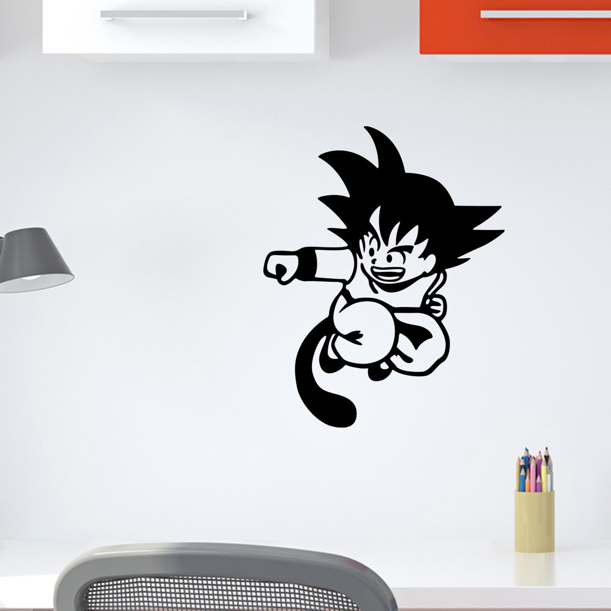 Stickers muraux pour les enfants  Sticker Dragon Ball attaque  Ambiancestickercom