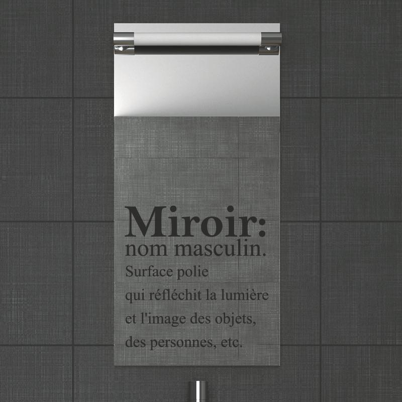 Stickers muraux pour salle de bain  Sticker mural miroir  Ambiancestickercom