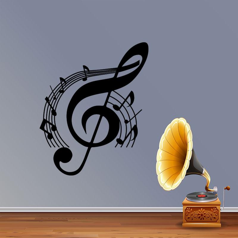 Sticker musique cl de sol  Stickers Musique  Cinema