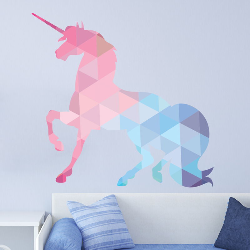 Sticker Origami La licorne  Stickers Chambre Ado Fille  Ambiancesticker