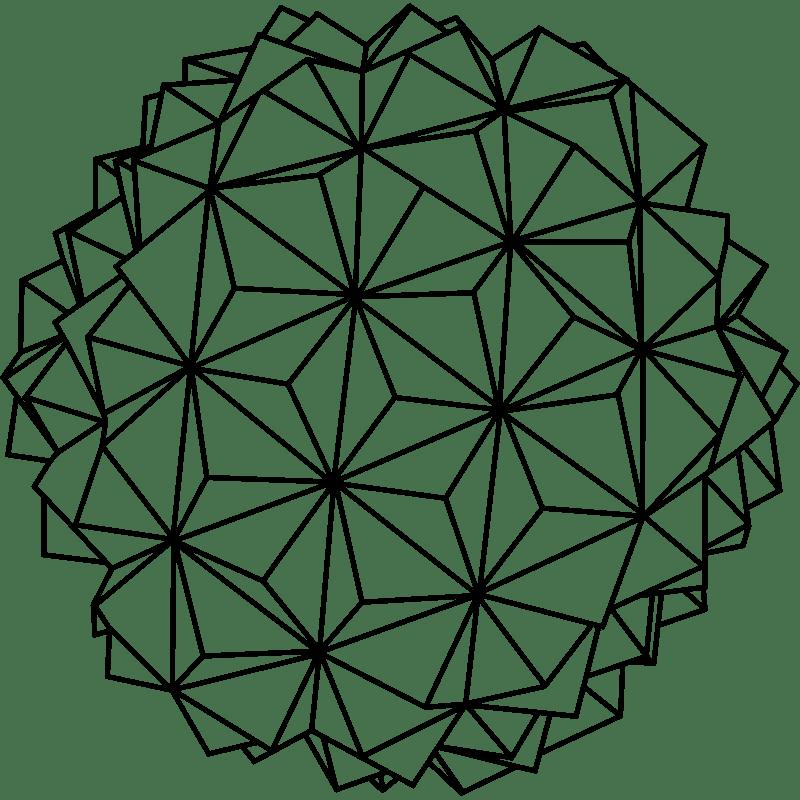 Sticker Origami sphère design