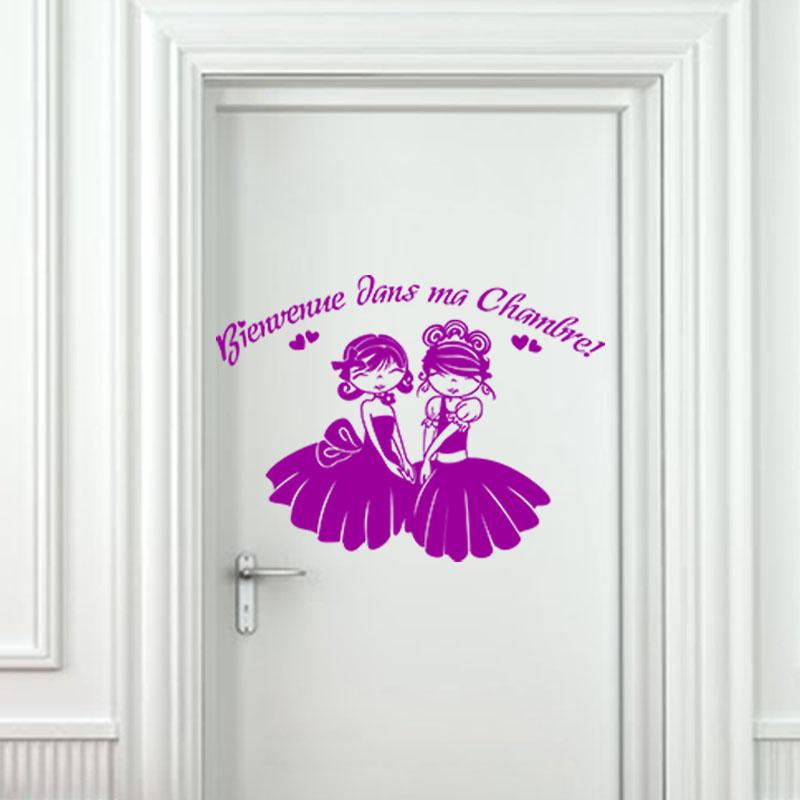 Sticker porte Bienvenue dans ma chambre  Stickers Chambre Ado Fille  Ambiancesticker