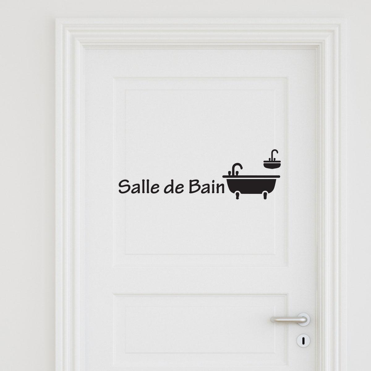 Sticker porte Salle de bain 3  Stickers Portes Salle de bain  Ambiancesticker