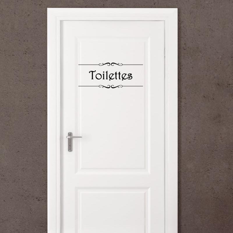Sticker Porte Quot Salle De Bain Quot Et Quot Toilettes Quot Stickers