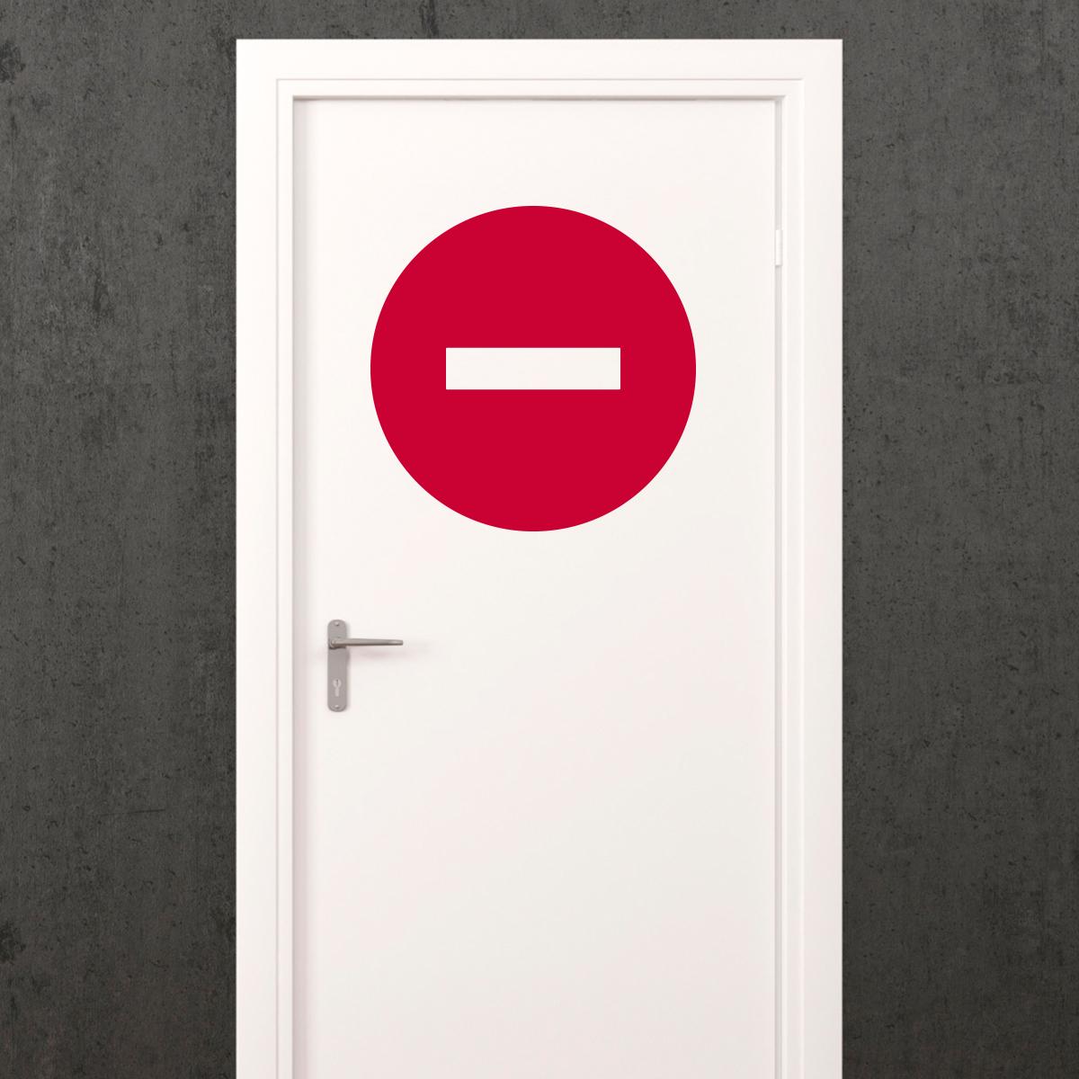 Sticker porte signaltique Sens interdit  Stickers Chambre Ado Garon  ambiancesticker