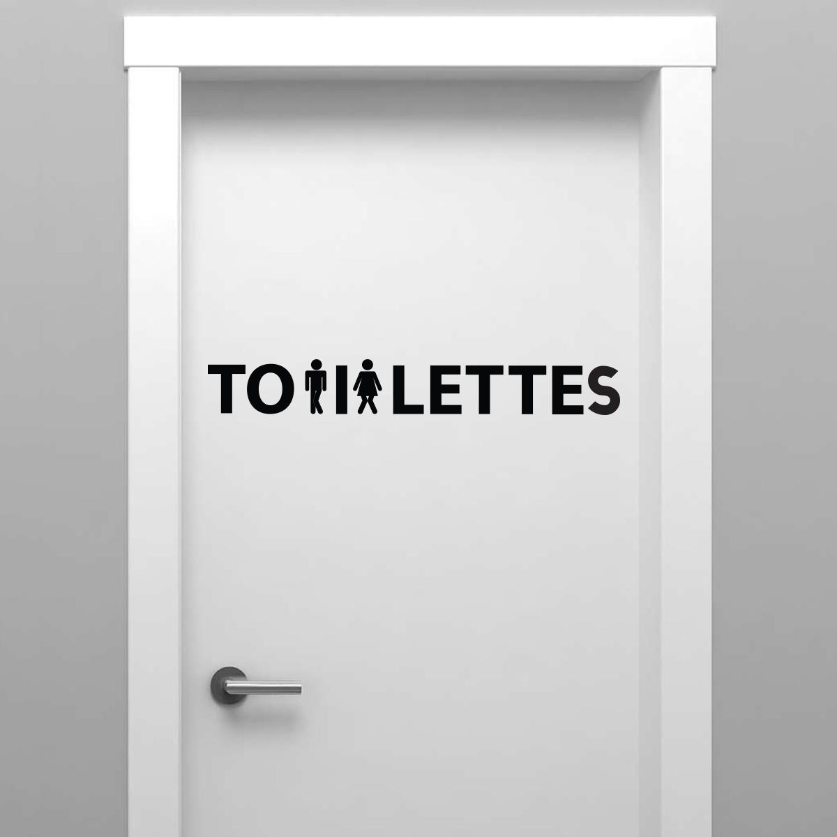 Sticker porte toilettes femme et homme presss  Stickers SALLE DE BAIN ET WC Toilettes