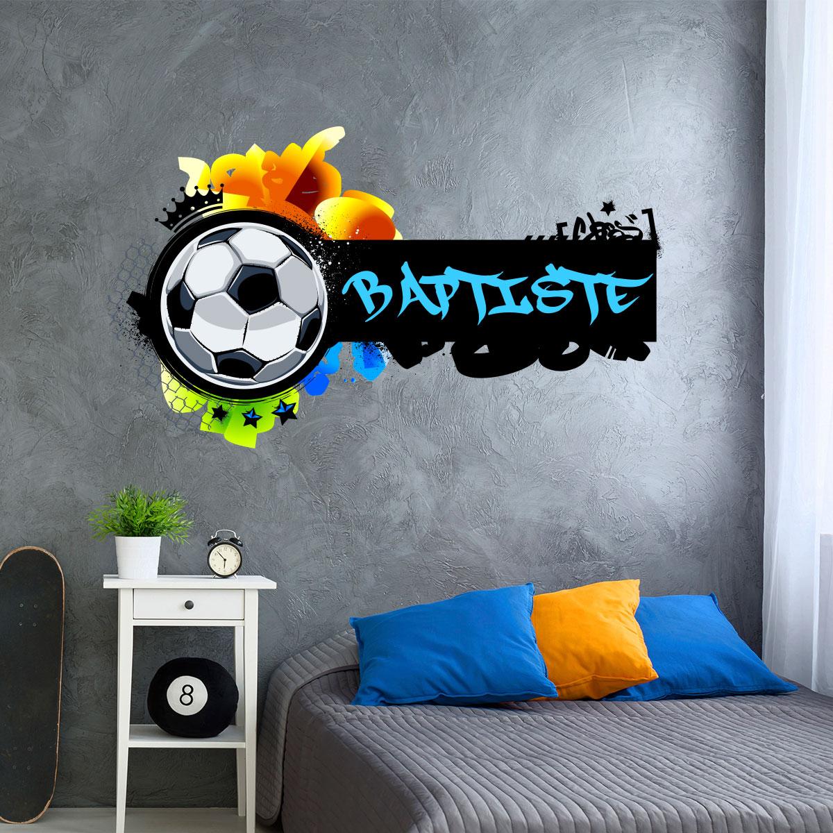 Sticker prnom personnalisable football graffiti  Stickers Sports et Football Football