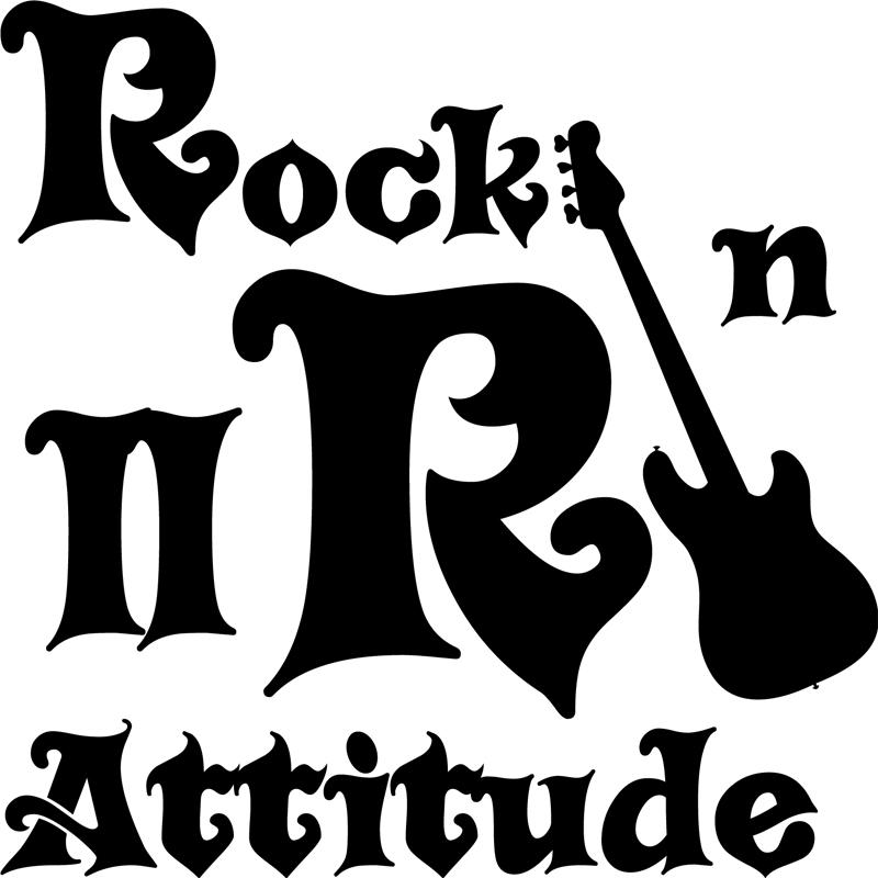 Sticker Rock n roll attitude  Stickers Musique  Cinema Musique  ambiancesticker