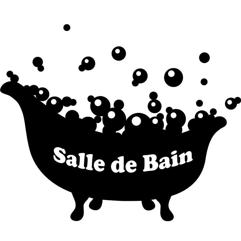 Sticker Salle de bain  baignoire avec bulles  Stickers SALLE DE BAIN ET WC Salle de bain