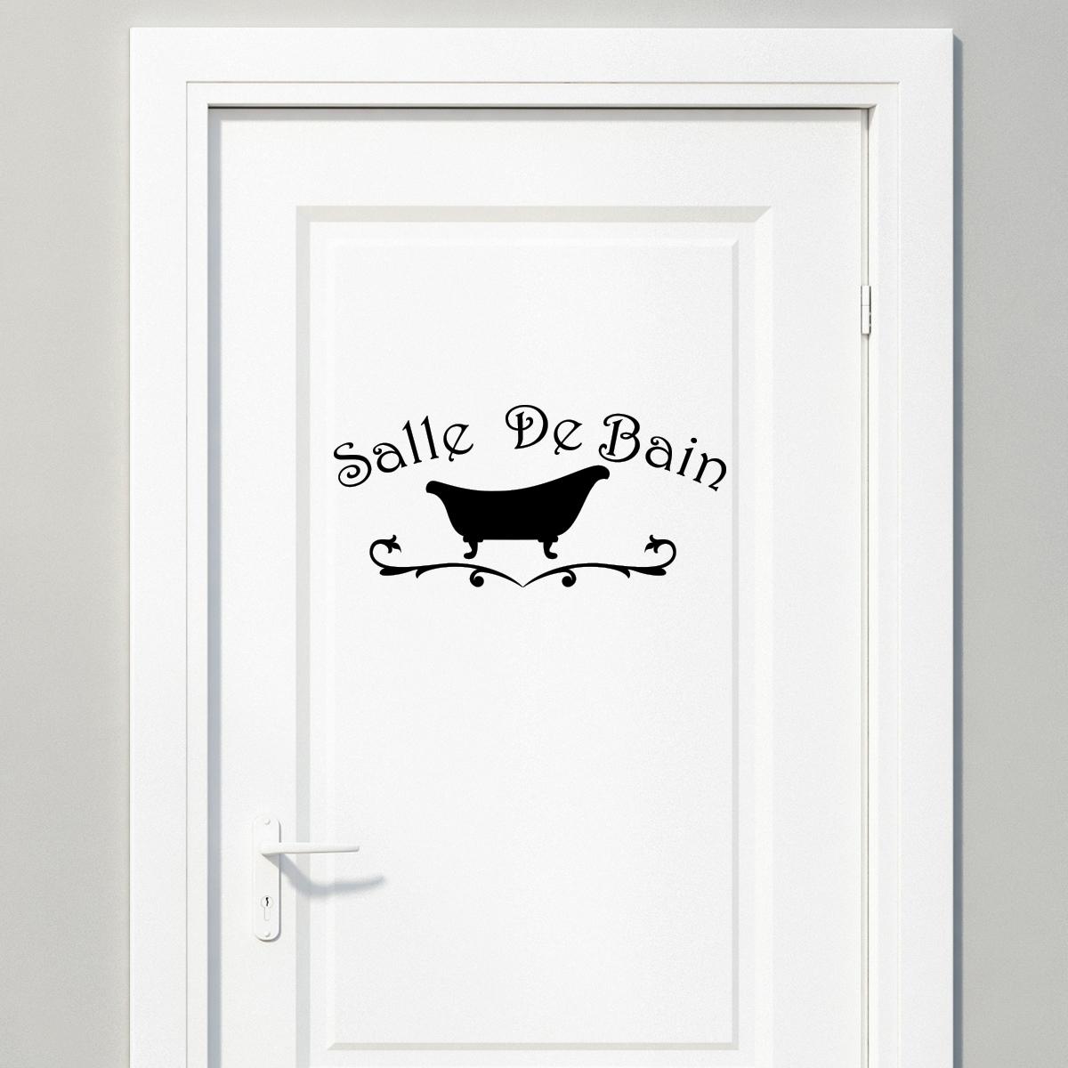 Sticker Salle de bain design baignoire  Stickers SALLE DE BAIN ET WC Salle de bain  ambiance