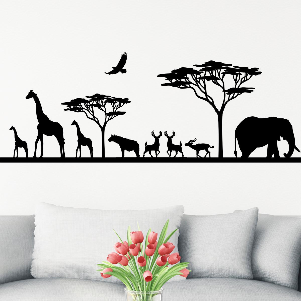 Sticker Savane Africaine et ses animaux  stickers STICKERS ANIMAUX  ambiancesticker