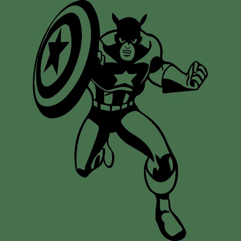 Sticker Super héros le capitaine