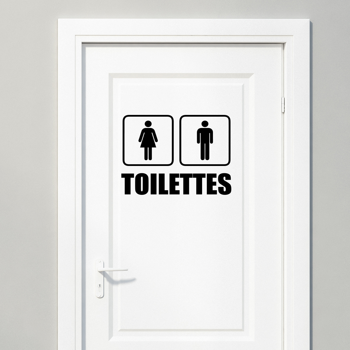 Sticker Toilettes Homme femme  Stickers STICKERS TOILETTES Porte  ambiancesticker