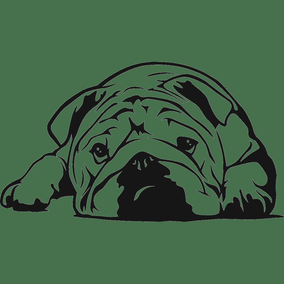 Sticker voiture gros chien