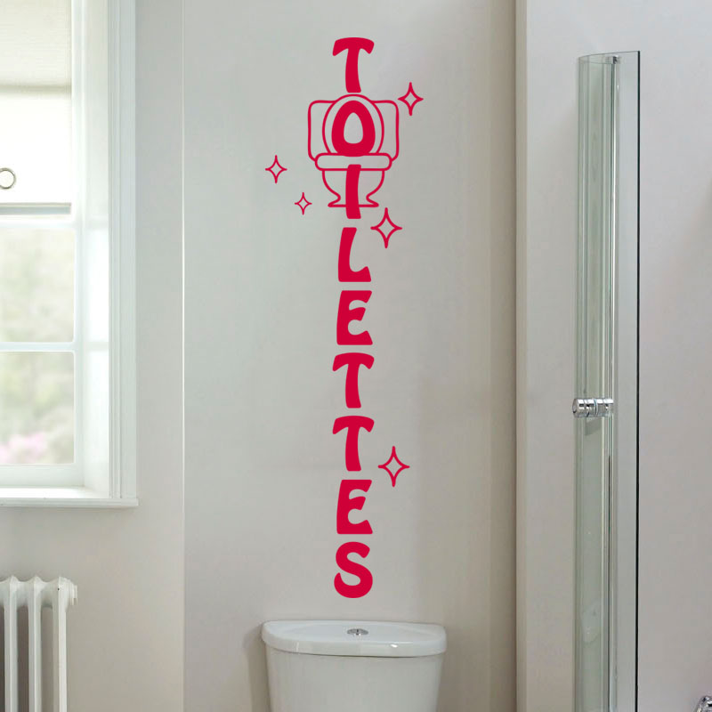 Sticker wc toilettes design  Stickers STICKERS TOILETTES Porte  Ambiancesticker