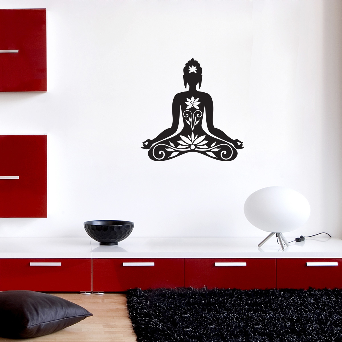 Sticker muraux ZEN  Sticker mural Bouddha assis  Ambiancestickercom