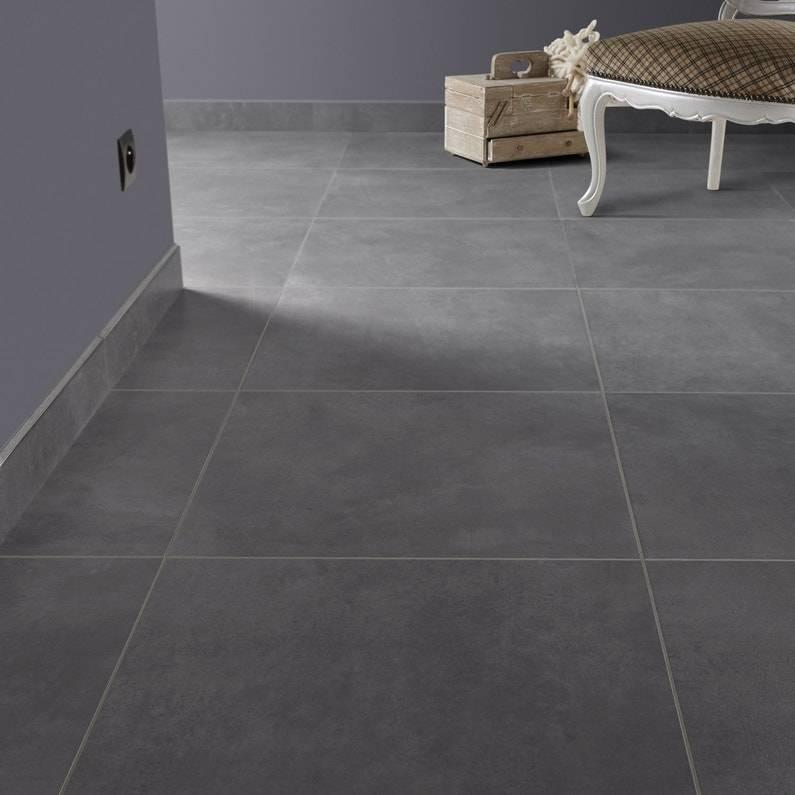 carrelage gris 60x60 pour sol de salon