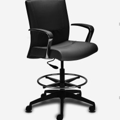 Modern Drafting Chair Lift Maintenance Black Executive Leather Ambience Doré