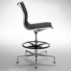 Mesh Drafting Chair Minimalist Office Exquisite Chrome Stool Ambience Doré