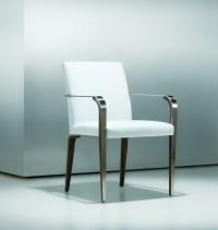 Fine Modern Metal Wood Side Chair - Ambience Dor