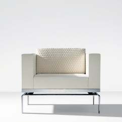 Modern White Leather Club Chair Clearance High Low Chrome Ambience Doré