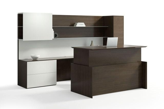 executive height adjustable modern wood desk - Ambience Doré
