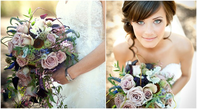 Garden Roses Bridal Bouquet C Flowers California Wedding Rustic Centerpiece