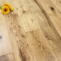 125mm Lacquered Engineered Rustic Oak Wood Flooring 2.2m