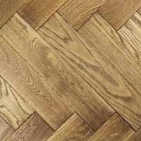 Engineered Honey Brushed & Oiled Oak Parquet Block Wood