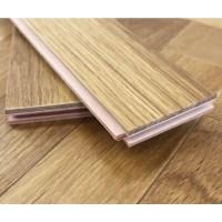Engineered Oiled Light Smoked Oak Parquet Block Wood Floorin