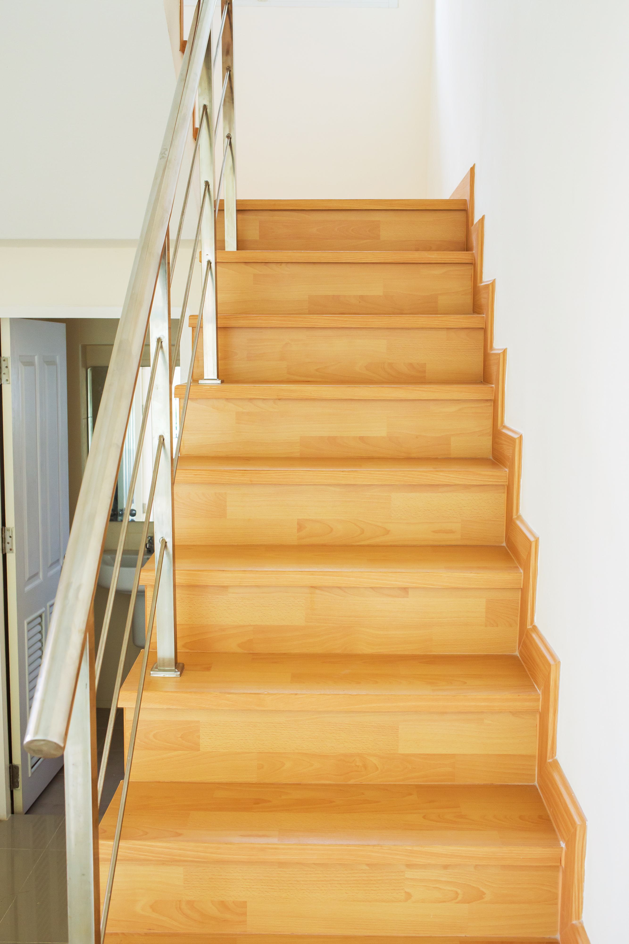 Installing wood flooring on a staircase  The wood flooring