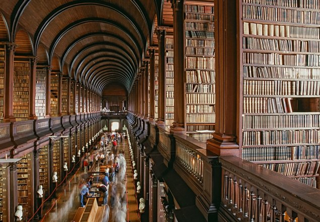 Large Old Library sounds audio atmosphere
