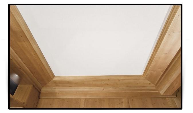 Cornici in legno per soffitti stile montano AMBIENT ARREDO
