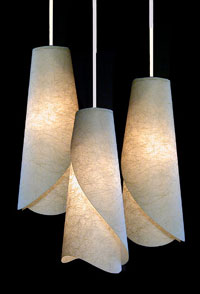 Custom Handmade Paper Lamps  Wall Sconces from AmbientArtcom