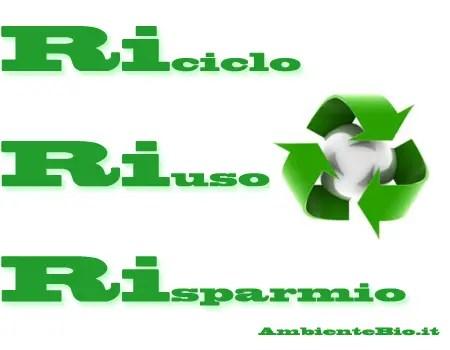Riciclo Riuso Risparmio  Ambiente Bio