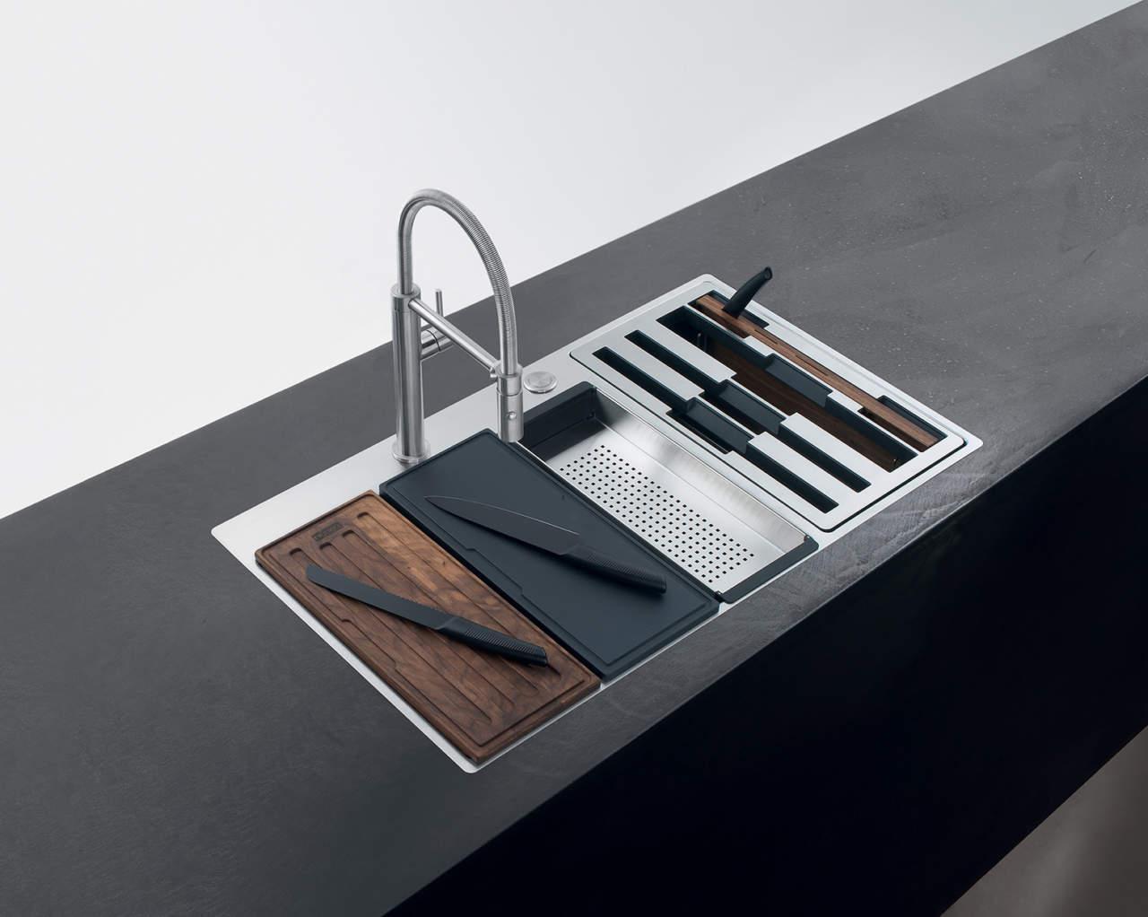 Box Center di Franke fa del lavello una workstation  Ambiente Cucina