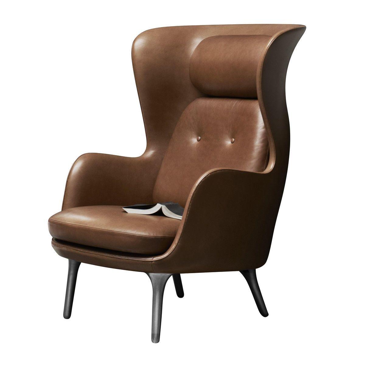Ro Wingback Chair Leather  Fritz Hansen  AmbienteDirectcom