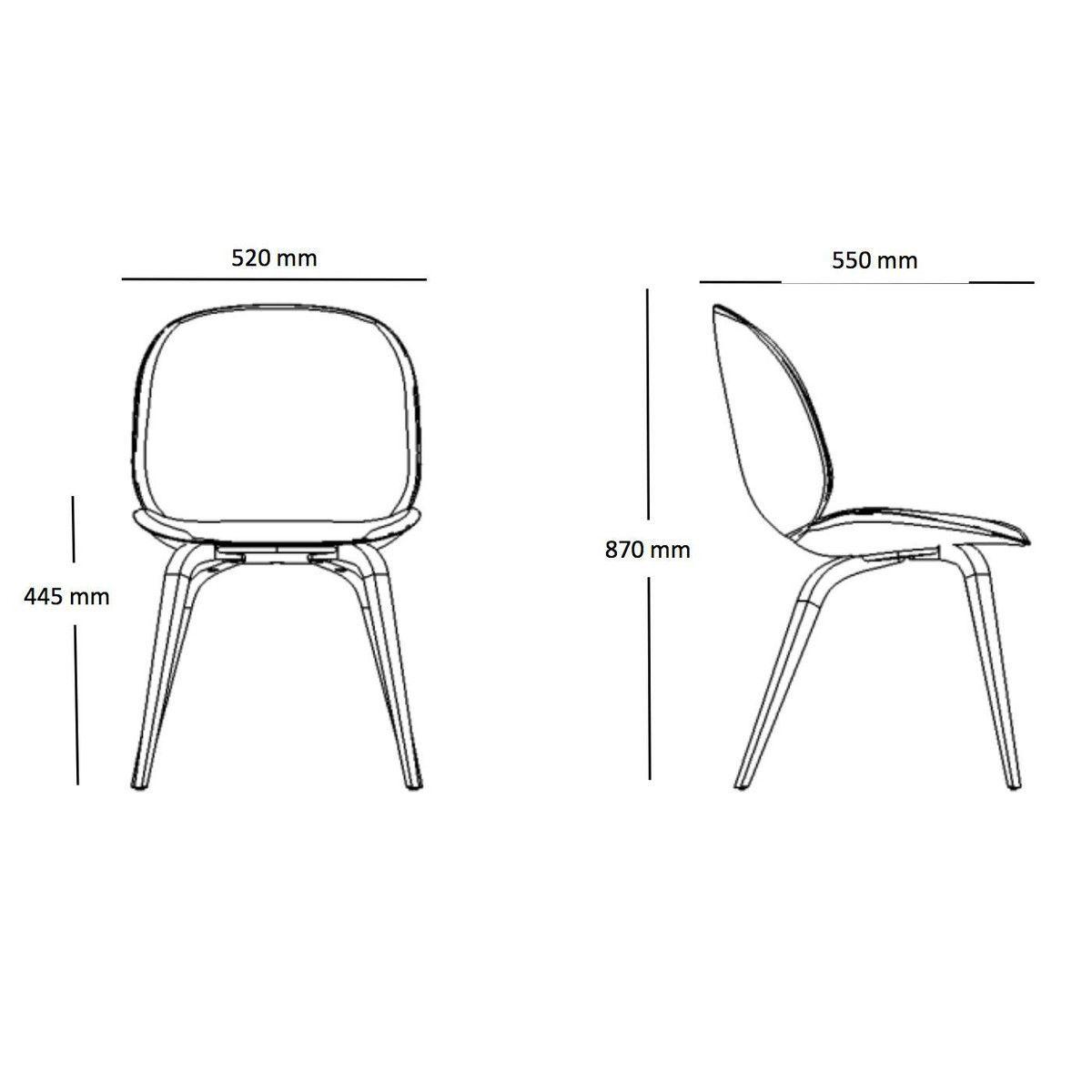 Beetle Dining Chair Stuhl Mit Eichengestell