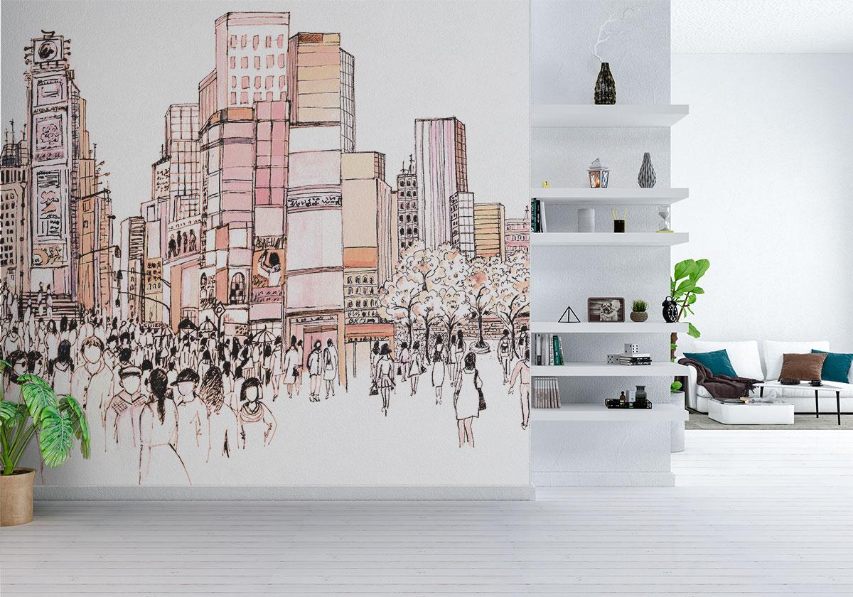 La carta da parati cityart nasce per ordinare i pensieri e collegare le esperienze, per omaggiare la città che ci ospita, o che i nostri sogni conoscono. Vinyl Wallpaper High Quality Resistance And Washability Ambientha