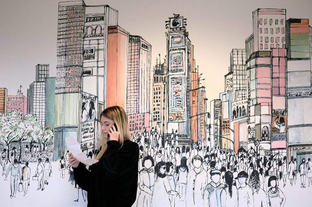 carta da parati new york. La Carta Da Parati Per Ufficio Uno Sguardo Su New York Ambientha