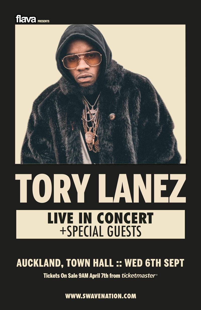 Tory Lanez NZ Tour Poster