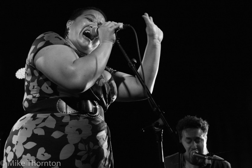 Ms Sophia and Solomon Cole perform live in Auckland, 2017. Image by Mike Thornton.